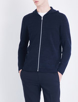 Sandro Marl-pattern knitted cotton hoody