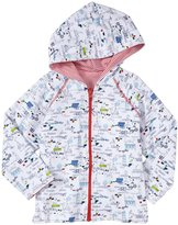 Zutano Out To Sea Zip Hoodie (Toddler) - White-3T