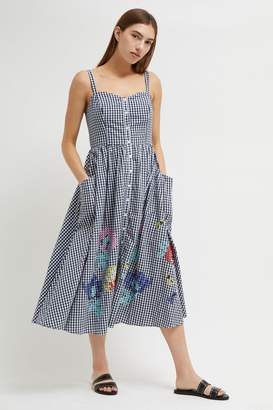 French Connection Lavande Gingham Midi Dress