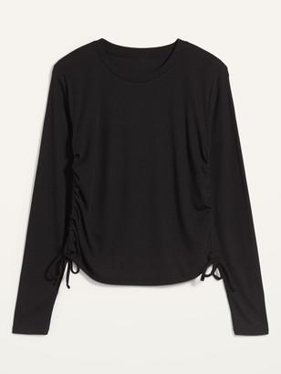 Old Navy UltraLite Rib-Knit Side-Cinch Long-Sleeve Top for Women