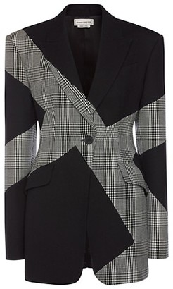 Alexander McQueen Colorblock Plaid Jacket