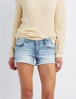 Charlotte Russe Refuge Mid-Rise Shortie Denim Shorts