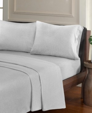 JLA Home Urban Habitat Heathered 4-pc King Cotton Jersey Knit Sheet Set Bedding