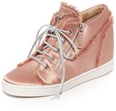 Giuseppe Zanotti Satin Lace Up Sneakers