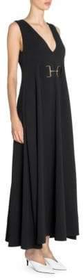Stella McCartney Women's Isabella Sleeveless Cady Maxi Dress - Black - Size 44 (10)
