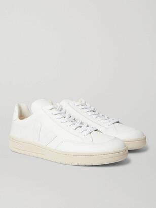 Veja V-12 Suede-Trimmed Leather Sneakers