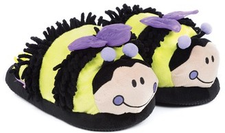 Spa Sister Just For Fun Plush Slippers, Bee
