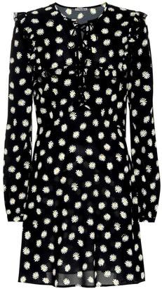 Miu Miu Daisy-printed crepe minidress