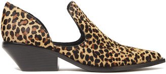Sigerson Morrison Cutout Leopard-print Calf Hair Ankle Boots