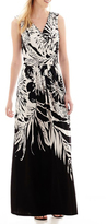 Donna Ricco 8880000M Contrast Print Splice Maxi Dress