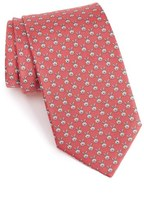 Salvatore Ferragamo Men's Rabbit Print Silk Tie