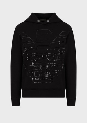 Emporio Armani Sweatshirt With Oversized Stencilled Eagle