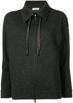 Brunello Cucinelli zipped sweatshirt - women - Cashmere - L