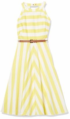 Brinker & Eliza Women's Striped Fit and Flare Halter Dress
