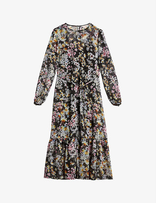Ted Baker Rishika floral chiffon midi dress