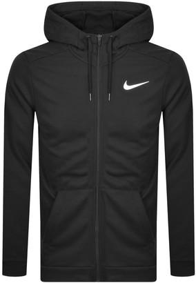 Nike Training Full Zip Dri Fit Logo Hoodie Black