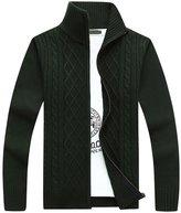 CLJJ7 Men's Zip-up Knit Cardigan Sweater