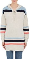 The Elder Statesman Women's Striped Cashmere Hoodie