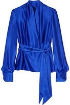 Gareth Pugh Silk-satin Blouse - Royal blue