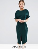 Asos Smart Woven Dress with V Back and Split Front