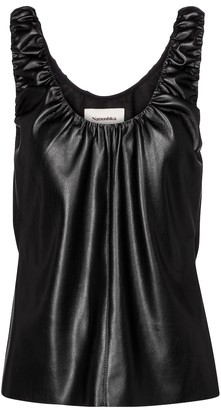 Nanushka Yael faux leather top