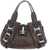 Roger Vivier Patent Leather & Suede Tote