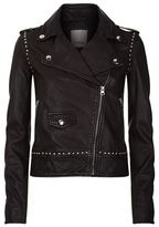 Pinko Studded Leather Biker Jacket