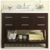 "Priva 42"" Open Bathroom Vanity Base Only Empire Industries"