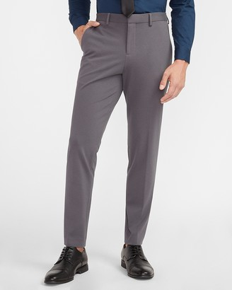 Express Slim Solid Gray Luxe Comfort Soft Dress Pant