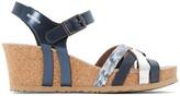 Mephisto Lanny Leather Wedge Sandals