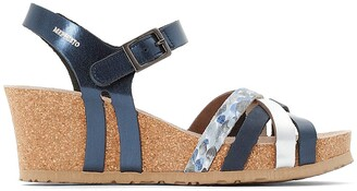 Mephisto Lanny Leather Wedge Sandals