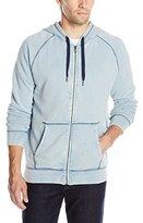 Calvin Klein Jeans Men's Acid Wash Full Zip Hooded Sweatshirt