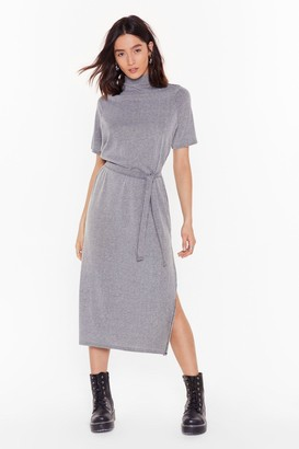 Nasty Gal Womens Tee BT Striped Midi Dress - grey - 6