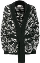 Laneus contrast cardigan - men - Polyamide/Wool/Alpaca - 46