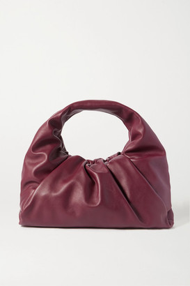 Bottega Veneta The Shoulder Pouch Gathered Leather Bag - Burgundy