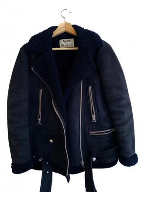 Acne Studios Black Shearling Jackets