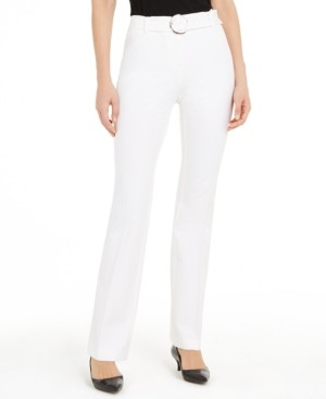 Alfani Belted Straight-Leg Pants, Created for Macy's