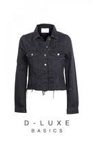 DECJUBA Luxe Distressed Raw Hem Jacket
