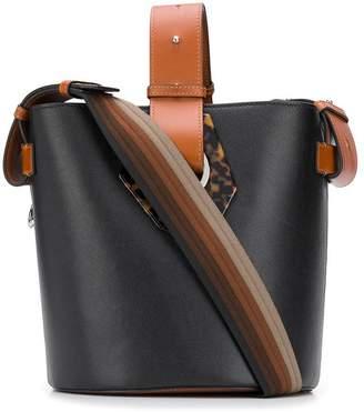 Ganni two-tone bucket bag