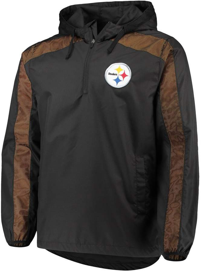 pretty nice afe28 9a426 G Iii Men's G-III Sports by Carl Banks Black Pittsburgh Steelers Lineup  Hooded Half-Zip Jacket
