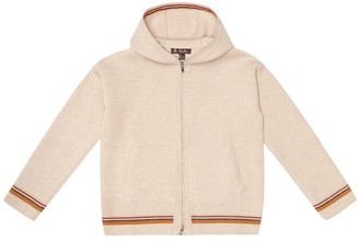 Loro Piana Kids Suitcase Stripes cashmere hoodie