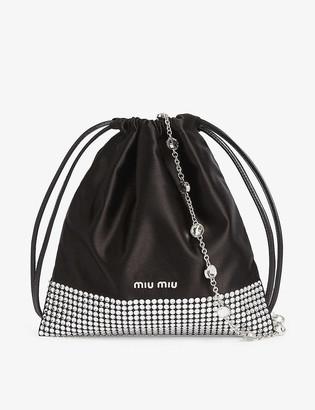 Miu Miu Crystal embellished drawstring bag