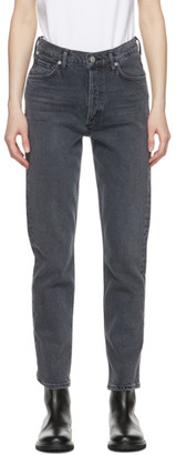 Citizens of Humanity Grey High-Rise Charlotte Jeans