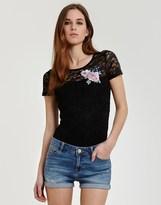 Morgan Lace Applique T-shirt