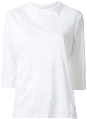 Bassike raised neck 3/4 sleeve T-shirt