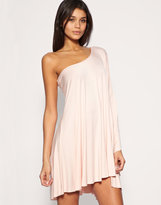 Lipsy Dress Asymmetric Draped Jersey Dress