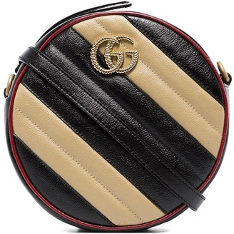 Gucci Marmont striped circle camera bag