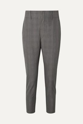 Etoile Isabel Marant Noah Checked Cotton-blend Slim-leg Pants - Anthracite