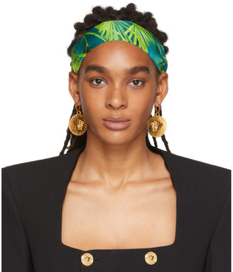 Versace Green Jungle Headband