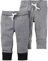 Carter's Baby Boy 2-pk. Striped & Solid Pants
